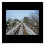 Train Tracks Picture Poster