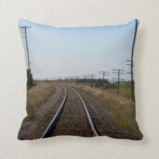 Train Tracks Pillow