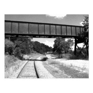 Train Tracks Postcard