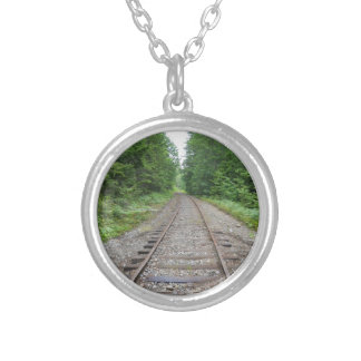 Train Tracks Silver Plated Necklace