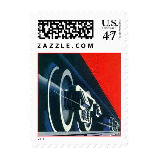 Train Tracks Steel Wheels Railway Car Rail Stamps