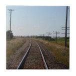 Train Tracks Tile