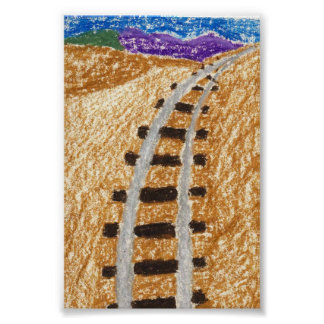 Train Tracks To The Mountains Posters