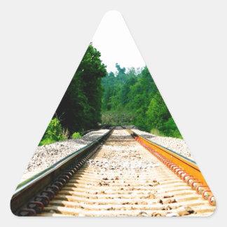 Train Tracks Triangle Sticker