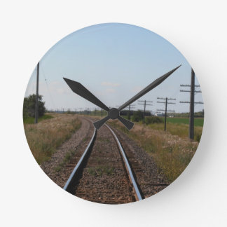 Train Tracks Wall Clock