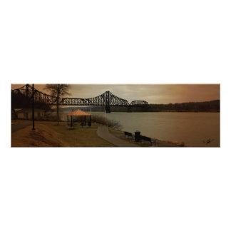 Train Tressle over Ohio River Photo Print