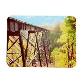 Train Trestle Rectangular Photo Magnet