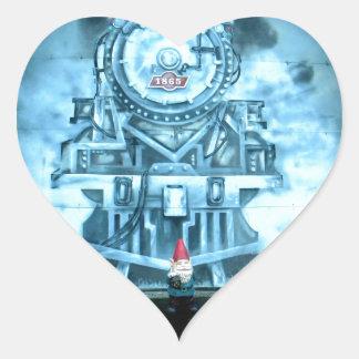 Train Tunnel Gnome Heart Sticker