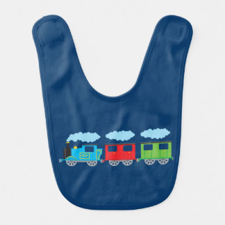 Train & Two Carriages Baby Bib