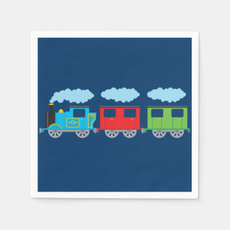 Train & Two Carriages Paper Napkins