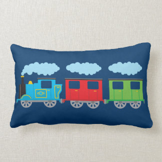 Train & Two Carriages Throw Pillows