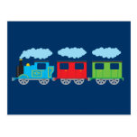 Train & Two Carriages Postcard