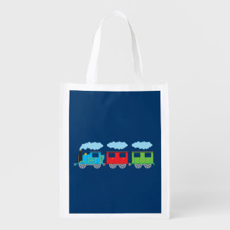 Train & Two Carriages Reusable Grocery Bag