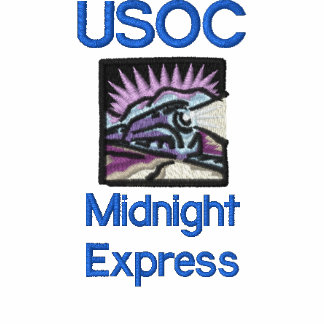 train, USOC, Midnight Express Embroidered Polo Shirt