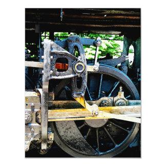 Train Wheel Closeup Card