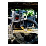 Train Wheel Closeup Greeting Card