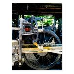 Train Wheel Closeup Postcard