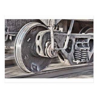Train Wheels Postcard