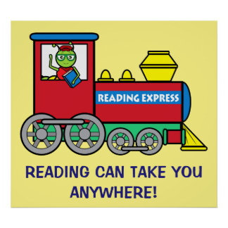 Train with Bookworm: Reading Express Poster