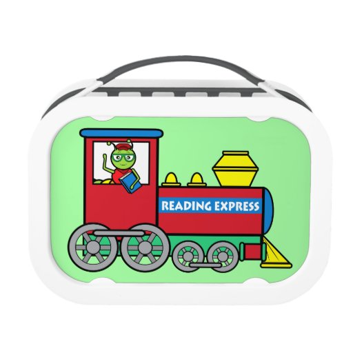 Train With Bookworm Reading Express Yubo Lunchbox Zazzle
