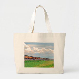 train with many cars tote bag