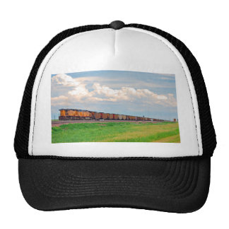 train with many cars trucker hat
