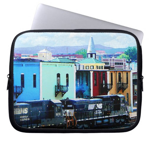 Train with Two Locomotives Roanoke, VA Laptop Sleeve