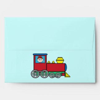 Train with Waving Boy Envelope