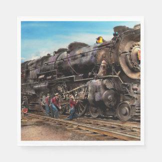 Train - Working on the railroad 1930 Paper Napkin