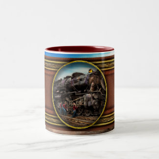 Train - Working on the railroad 1930 Two-Tone Coffee Mug
