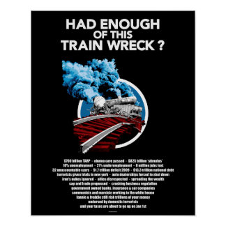 Train Wreck 16x20 Poster