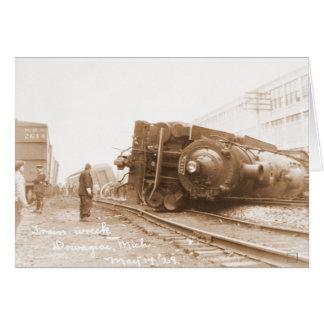 Train Wreck 1929 Card