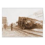 Train Wreck 1929 Greeting Card
