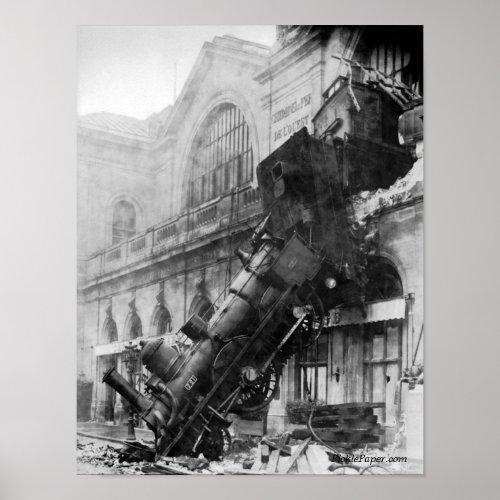 Train Wreck At Montparnasse 1895 Poster