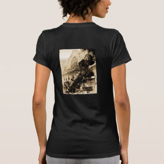 Train Wreck at Montparnasse 1895 Vintage Shirts
