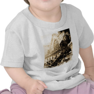Train Wreck at Montparnasse 1895 Vintage T Shirt