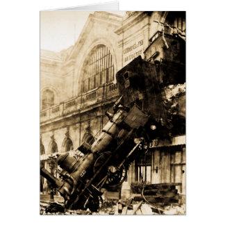 Train Wreck at Montparnasse , 22 October 1895 Greeting Card