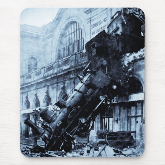 Train Wreck at Montparnasse , 22 October 1895 Mouse Pad