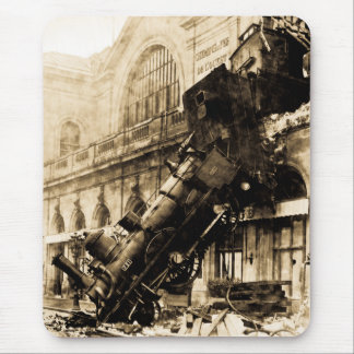 Train Wreck at Montparnasse 22 October 1895 Mousepads