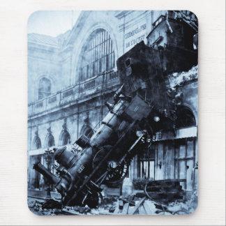 Train Wreck at Montparnasse 22 October 1895 Mousepad