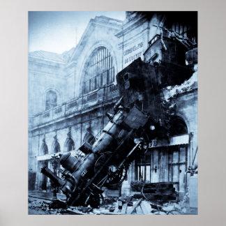 Train Wreck at Montparnasse,  22 October 1895 Print