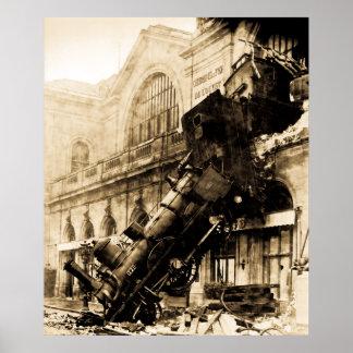 Train Wreck at Montparnasse,  22 October 1895 Posters