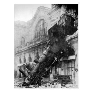 Train Wreck at Montparnasse Postcard