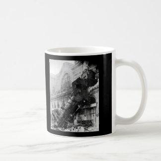 Train Wreck at Montparnasse, railroad disaster Coffee Mug