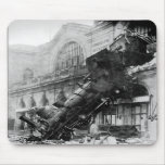 Train Wreck at Montparnasse, railroad disaster Mouse Mat