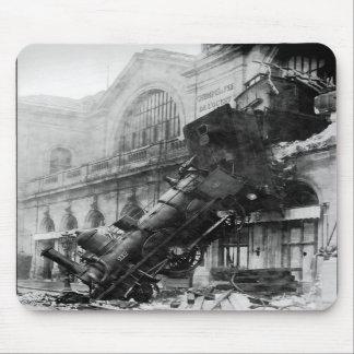 Train Wreck at Montparnasse railroad disaster Mouse Mat