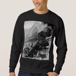 Train Wreck at Montparnasse, railroad disaster Sweatshirt