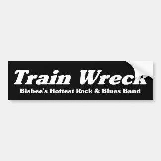Train Wreck bumper sticker