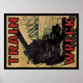 Train Wreck - SOS Poster 18x24