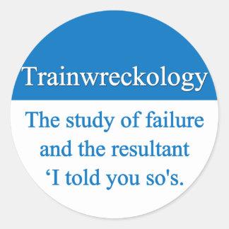 Train Wreck Stickers